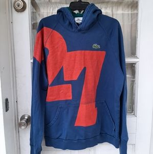 Lacoste Mens Blue Orange Sweatshirt Sz 6/XL
